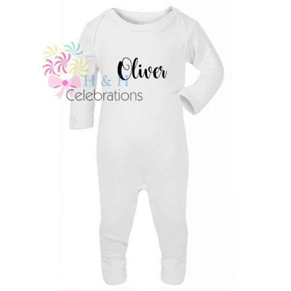 Name Only Personalised Baby Romper